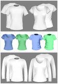T-shirt design template (men and women). — Stock Vector