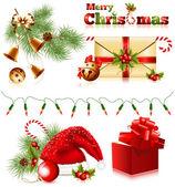 Set of christmas symbols — Stock Vector