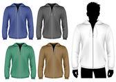 Hooded sweatshirt with zipper design template. — Stock Vector