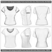 Women's t-shirt design template — Stock Vector
