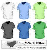 Men's v-neck t-shirt design template — Stock Vector