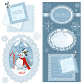 Set of Christmas frames with copy space — Stock Vector