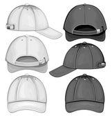 Ilustración vectorial de la gorra de béisbol — Vector de stock