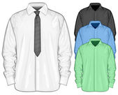 Color dress shirt. Front view — Stock Vector