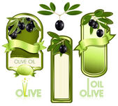 Label for product. Olive oil. — Stock Vector