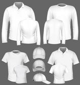 Vector t-shirt, polo shirt and sweatshirt design template. — Stock Vector