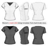 Women's polo-shirt design template — Stock Vector