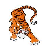Tecknad tiger — Stockvektor