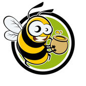 Cartoon bee — Stock Vector