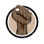 Vintage cartoon fist — Stock Vector
