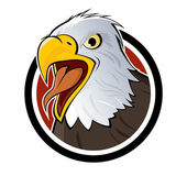 Cartoon eagle sign — Stock Vector
