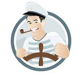Cartoon sailor sign — Stock Vector