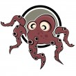 Royalty-Free Stock Vector Image: Funny cartoon octopus
