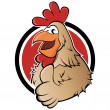 Funny cartoon rooster — Stock Vector
