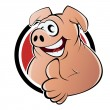 Funny cartoon pig — Stock Vector