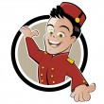 desenhos animados de serviço do hotel engraçado — Vetorial Stock
