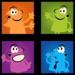 Royalty-Free Stock Vector Image: Group of funny retro cartoon
