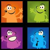 Skupina komickou retro — Stock vektor