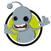 Funny cartoon alien — Stok Vektör