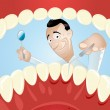 Funny dentist cartoon — Stock Vector