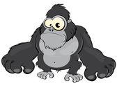 Funny cartoon gorilla — Stock Vector
