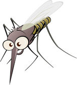 Nasty cartoon mosquito — Stock Vector