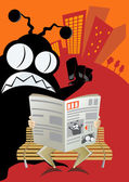 Funny monster cartoon — Stock Vector