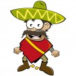 Stock Vector: Funny cartoon mexican