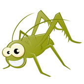 Funny cartoon grasshopper — Stock Vector