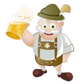 Funny cartoon bavarian — Stock Vector