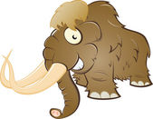 Funny cartoon mammoth — Stock Vector