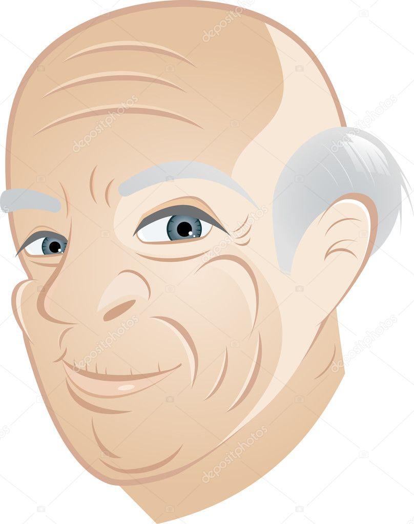 Heureux grand p re dessin anim image vectorielle 12002431 - Dessin grand pere ...
