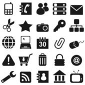 25 black icon — Stock Vector
