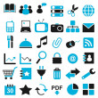 Royalty-Free Stock Vector Image: 36 blue black icon