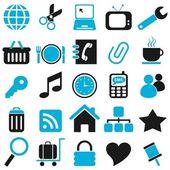 25 blue icon — Stock Vector