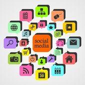 Social Media 2 — Stock Vector