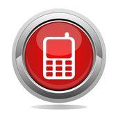 [電話] ボタン — ストックベクタ