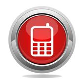 Tlačítko telefonu — Stock vektor