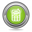 SMS button — Stockvector #11525381
