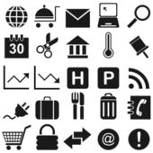25 black icon 3 — Stock Vector