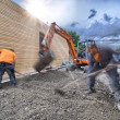 Landscaping - Groundwork — Stock Photo