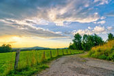 Farmland Sunset — Stock Photo
