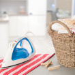 Stock Photo: Laundry In Kitchen Setting