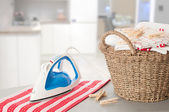 Laundry In Kitchen Setting — Stock Photo