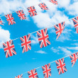 Union Flag Bunting — Stock Photo