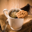 Coffee & Biscuit — Stock Photo