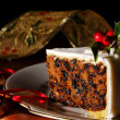 Slice Of Christmas Cake — Stock Photo