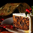 Stock Photo: Slice Of Christmas Cake