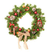 Decorated Christmas Wreath — Stock Photo
