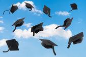 Graduation Mortar Boards — Stock Photo